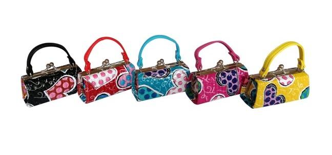 heart mini purses