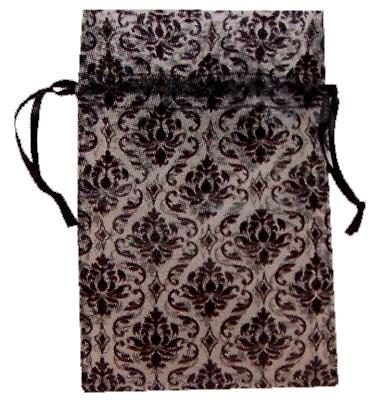 damask print pouch